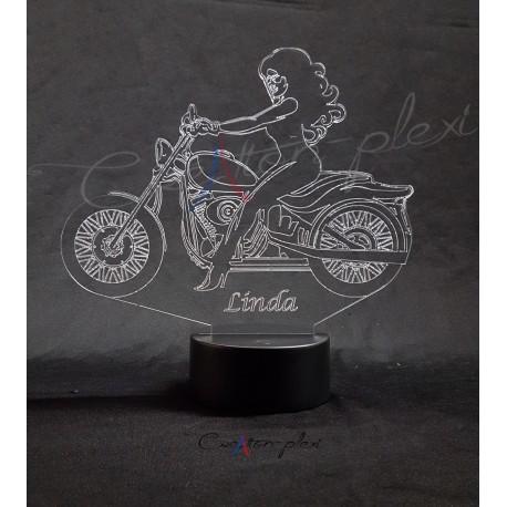 Veilleuse LED moto femme