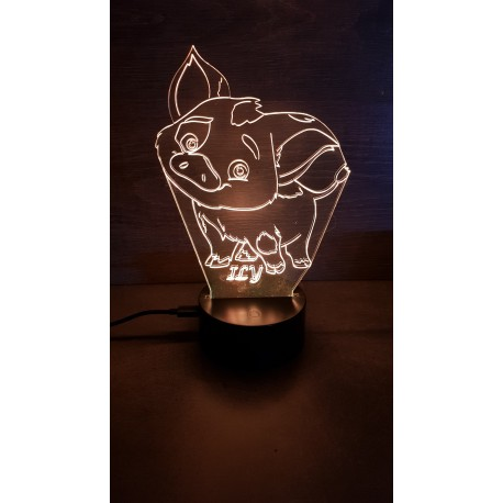 Veilleuse LED cochon