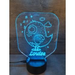 Veilleuse LED oiseau