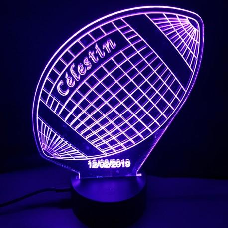 Veilleuse LED rugby 3D