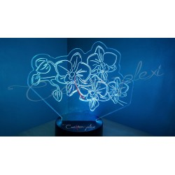 Veilleuse LED orchidée