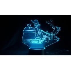 Veilleuse LED traineau père Noël