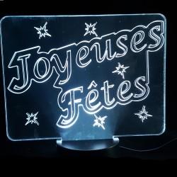 Veilleuse LED joyeuses fêtes