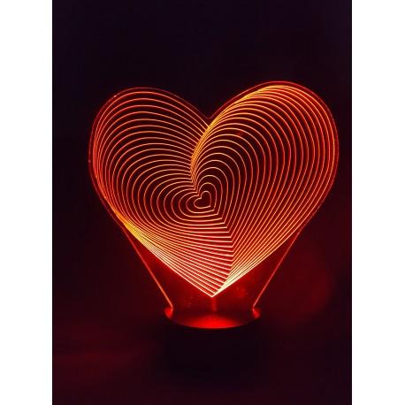Veilleuse LED coeur