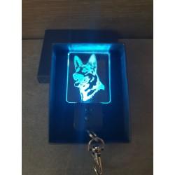 porte-clés LED lumineux berger allemand