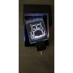 porte-clés LED lumineux Hiboux chouette