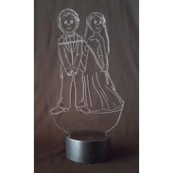 Veilleuse à LED mariés