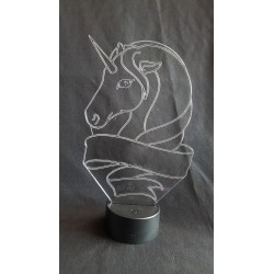 Veilleuse LED tête de licorne