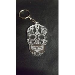 porte-clés tête de mort mexicaine