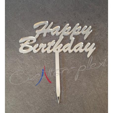cake topper Happy birthday  texte