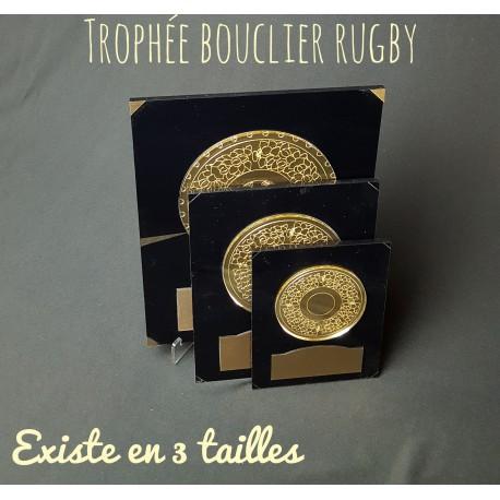 Trophée rugby bouclier