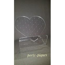 porte-piques forme coeur
