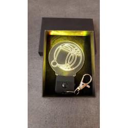 porte-clés LED lumineux Pétanque